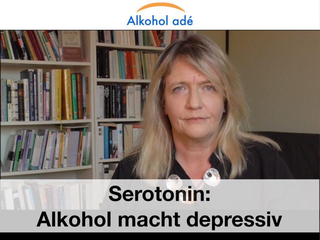 Serotonin: Alkohol macht depressiv